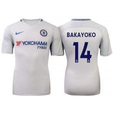 Chelsea 2017/18 Tiemoue Bakayoko #14 White Away Jersey - Authentic