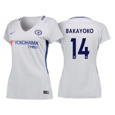Women - Chelsea 2017/18 Tiemoue Bakayoko #14 White Away Jersey - Authentic