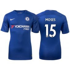 Chelsea 2017/18 Victor Moses #15 Blue Home Jersey - Authentic