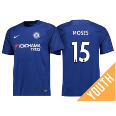 Youth - Chelsea 2017/18 Victor Moses #15 Blue Home Jersey - Authentic