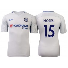 Chelsea 2017/18 Victor Moses #15 White Away Jersey - Authentic