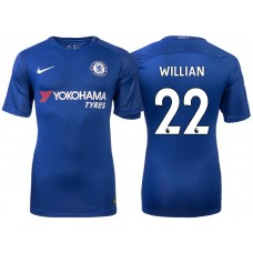 Chelsea 2017/18 Willian #22 Blue Home Jersey - Replica