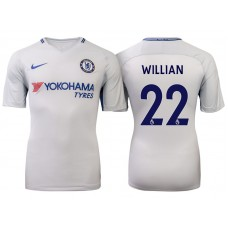 Chelsea 2017/18 Willian #22 White Away Jersey - Authentic