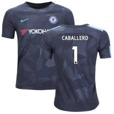 YOUTH - Chelsea 2017/18 Willy Caballero #1 Third Anthracite Camouflage Jersey - AUTHENTIC