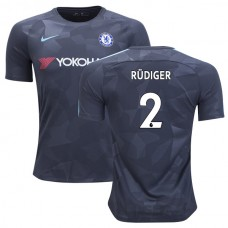 Chelsea 2017/18 Antonio Rudiger #2 Third Anthracite Camouflage Jersey - AUTHENTIC