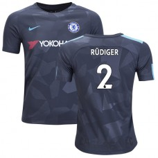YOUTH - Chelsea 2017/18 Antonio Rudiger #2 Third Anthracite Camouflage Jersey - AUTHENTIC