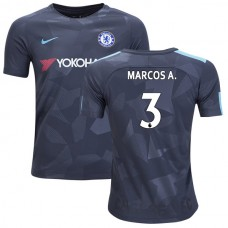 YOUTH - Chelsea 2017/18 Marcos Alonso #3 Third Anthracite Camouflage Jersey - AUTHENTIC