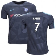 YOUTH - Chelsea 2017/18 N'Golo Kante #7 Third Anthracite Camouflage Jersey - REPLICA