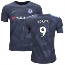 YOUTH - Chelsea 2017/18 Alvaro Morata #9 Third Anthracite Camouflage Jersey - AUTHENTIC
