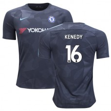 Chelsea 2017/18 Kenedy #16 Third Anthracite Camouflage Jersey - AUTHENTIC