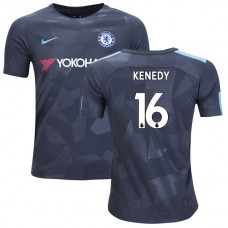 YOUTH - Chelsea 2017/18 Kenedy #16 Third Anthracite Camouflage Jersey - AUTHENTIC
