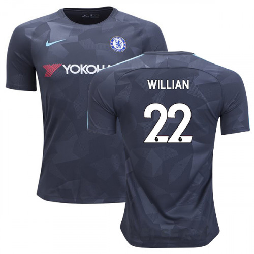 Chelsea 2017/18 Willian #22 Third Anthracite Camouflage Jersey - AUTHENTIC