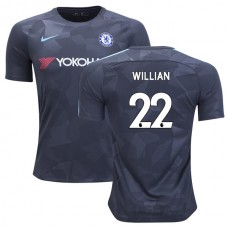 Chelsea 2017/18 Willian #22 Third Anthracite Camouflage Jersey - REPLICA