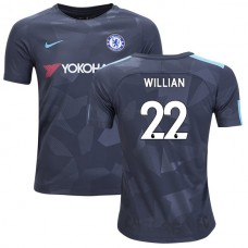 YOUTH - Chelsea 2017/18 Willian #22 Third Anthracite Camouflage Jersey - AUTHENTIC