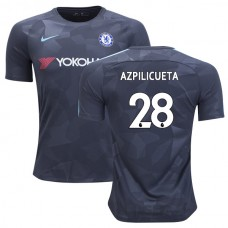Chelsea 2017/18 Cesar Azpilicueta #28 Third Anthracite Camouflage Jersey - AUTHENTIC