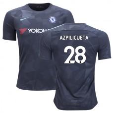 Chelsea 2017/18 Cesar Azpilicueta #28 Third Anthracite Camouflage Jersey - REPLICA