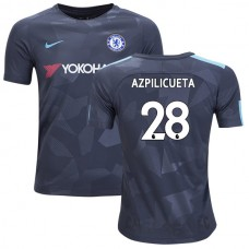 YOUTH - Chelsea 2017/18 Cesar Azpilicueta #28 Third Anthracite Camouflage Jersey - AUTHENTIC