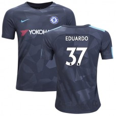 YOUTH - Chelsea 2017/18 Eduardo #37 Third Anthracite Camouflage Jersey - AUTHENTIC