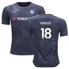 Chelsea 2017/18 Olivier Giroud #18 Third Anthracite Camouflage Jersey - AUTHENTIC