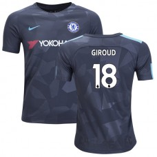 YOUTH - Chelsea 2017/18 Olivier Giroud #18 Third Anthracite Camouflage Jersey - AUTHENTIC