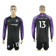 Chelsea #13 COURTOIS goalkeeper Jersey black long sleeves goalkeeper Jersey