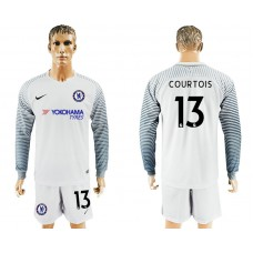 Chelsea #13 COURTOIS goalkeeper Jersey white long sleeves goalkeeper Jersey