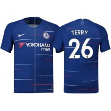 Chelsea #26 John Terry Home Blue Authentic Jersey 2018/19