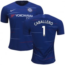 Chelsea #1 Willy Caballero Home Blue Authentic Jersey 2018/19