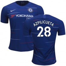 Chelsea #28 Cesar Azpilicueta Home Blue Authentic Jersey 2018/19