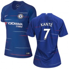WOMEN'S Chelsea #7 N'Golo Kante Home Blue Authentic Jersey 2018/19