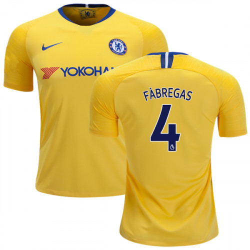 super popular d7334 571ea Chelsea #4 Cesc Fabregas Away Yellow Authentic Jersey - 2018 ...