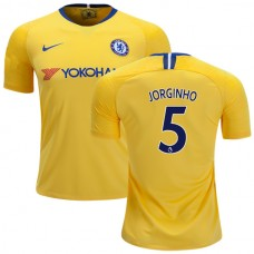 Chelsea #5 Jorginho Away Yellow Authentic Jersey 2018/19