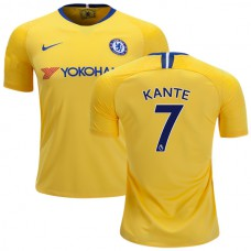Chelsea #7 N'Golo Kante Away Yellow Authentic Jersey 2018/19