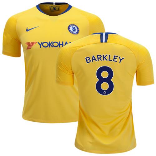 5e8a6593b Chelsea  8 Ross Barkley Away Yellow Replica Jersey - 2018-19 Premier ...