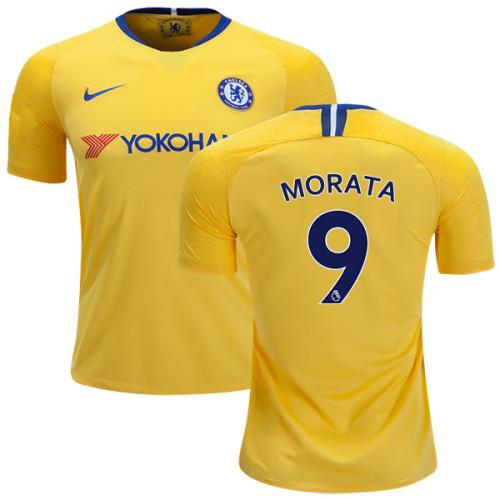 KID's Chelsea #9 Alvaro Morata Away Yellow Authentic Jersey - 2018 ...