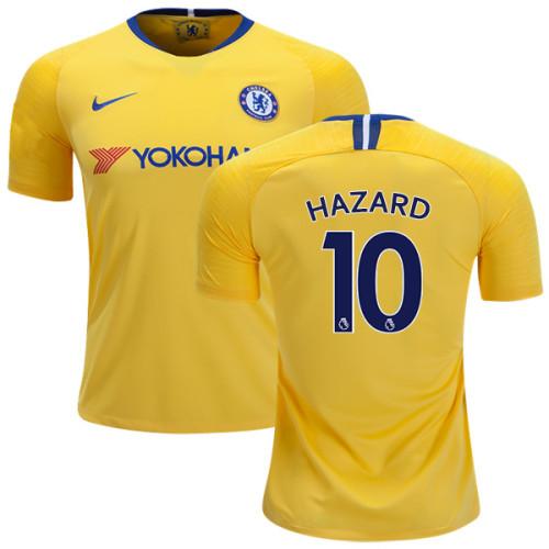 huge selection of c4d44 66375 KID's Chelsea #10 Eden Hazard Away Yellow Replica Jersey ...