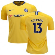 Chelsea #13 Thibaut Courtois Away Yellow Authentic Jersey 2018/19