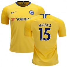 Chelsea #15  Victor Moses Away Yellow Replica Jersey 2018/19