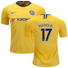 Chelsea #17 Charly Musonda Away Yellow Authentic Jersey 2018/19