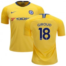 YOUTH Chelsea #18  Olivier Giroud Away Yellow Replica Jersey 2018/19