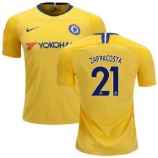 Chelsea #21 Davide Zappacosta Away Yellow Authentic Jersey 2018/19