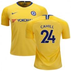 Chelsea #24  Gary Cahill Away Yellow Replica Jersey 2018/19