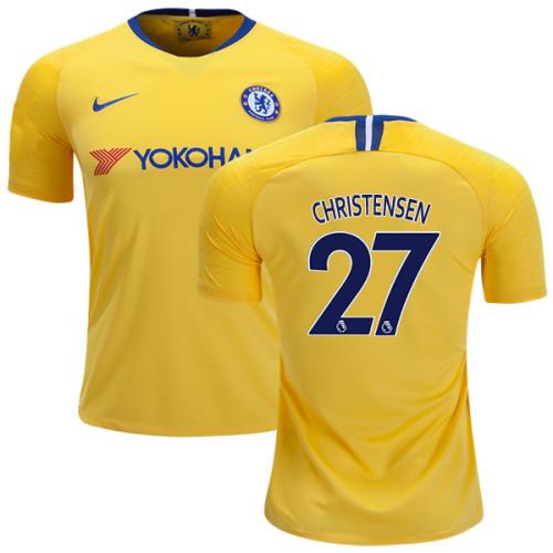 KID's Chelsea #27 Andreas Christensen Away Yellow Replica Jersey ...