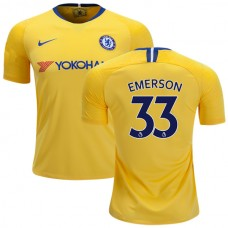 Chelsea #33 Emerson Away Yellow Authentic Jersey 2018/19