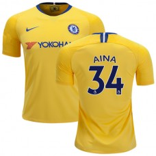Chelsea #34  Ola Aina Away Yellow Replica Jersey 2018/19