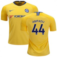 Chelsea #44 Ethan Ampadu Away Yellow Authentic Jersey 2018/19