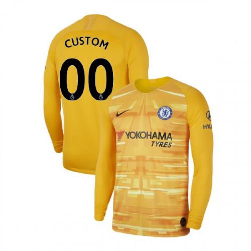 Chelsea Goalkeeper #00 Custom Gold Authentic Jersey 2019/20