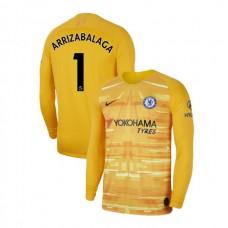 Chelsea Goalkeeper #1 Kepa Arrizabalaga Gold Authentic Jersey 2019/20