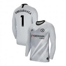 Chelsea Goalkeeper #1 Kepa Arrizabalaga Platinum Authentic Jersey 2019/20