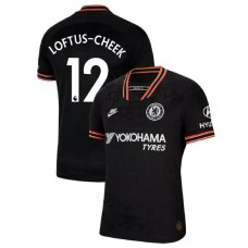 Chelsea #12 Ruben Loftus-Cheek Black Third Authentic Jersey 2019/20
